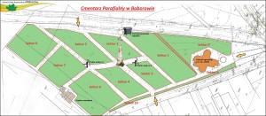 Plan cmentarza - sektory